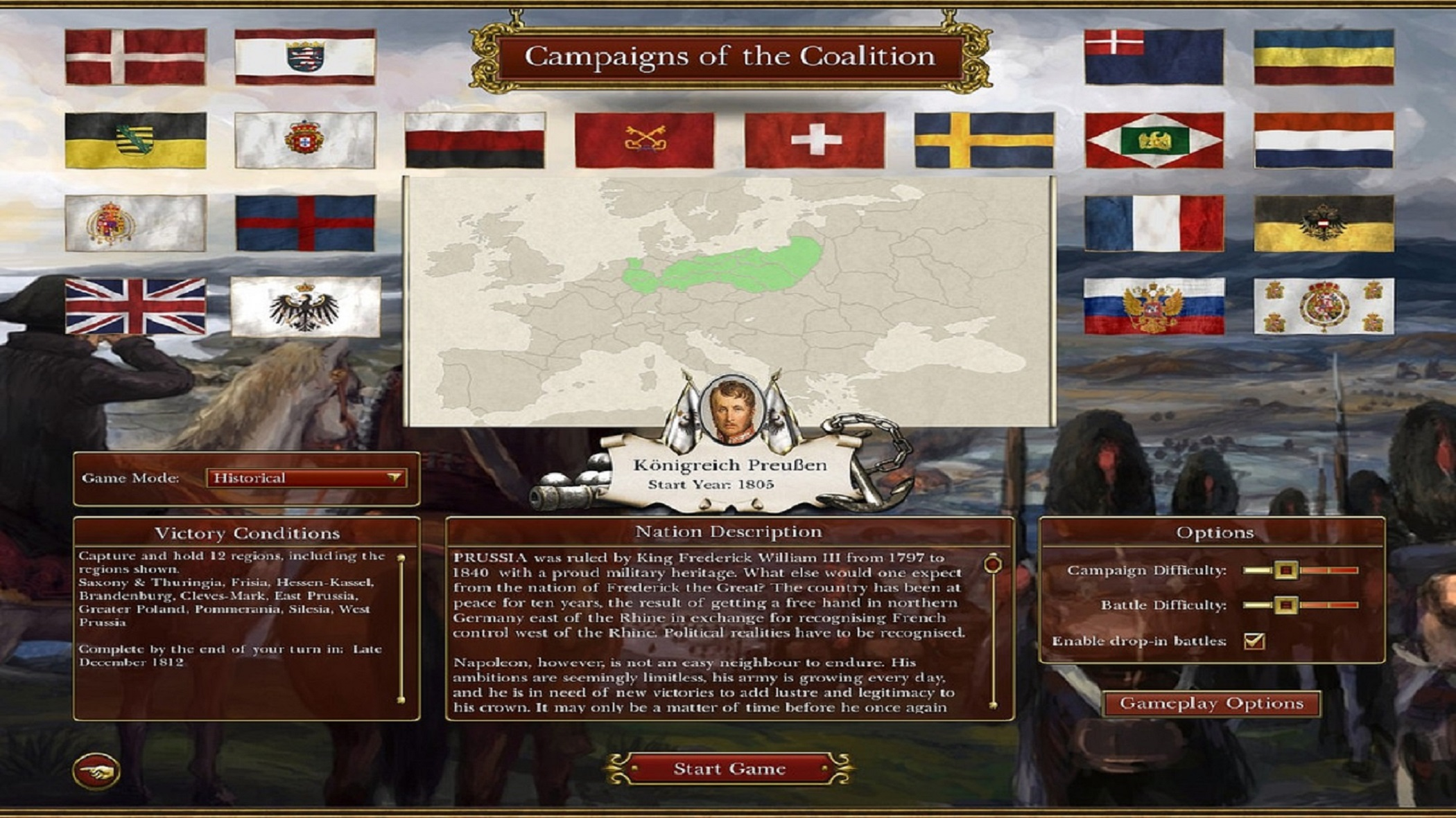 Napoleonic: Total War III ~ NTW3 Gameplay Single and Multiplayer Campaigns of the Coalition loading screen