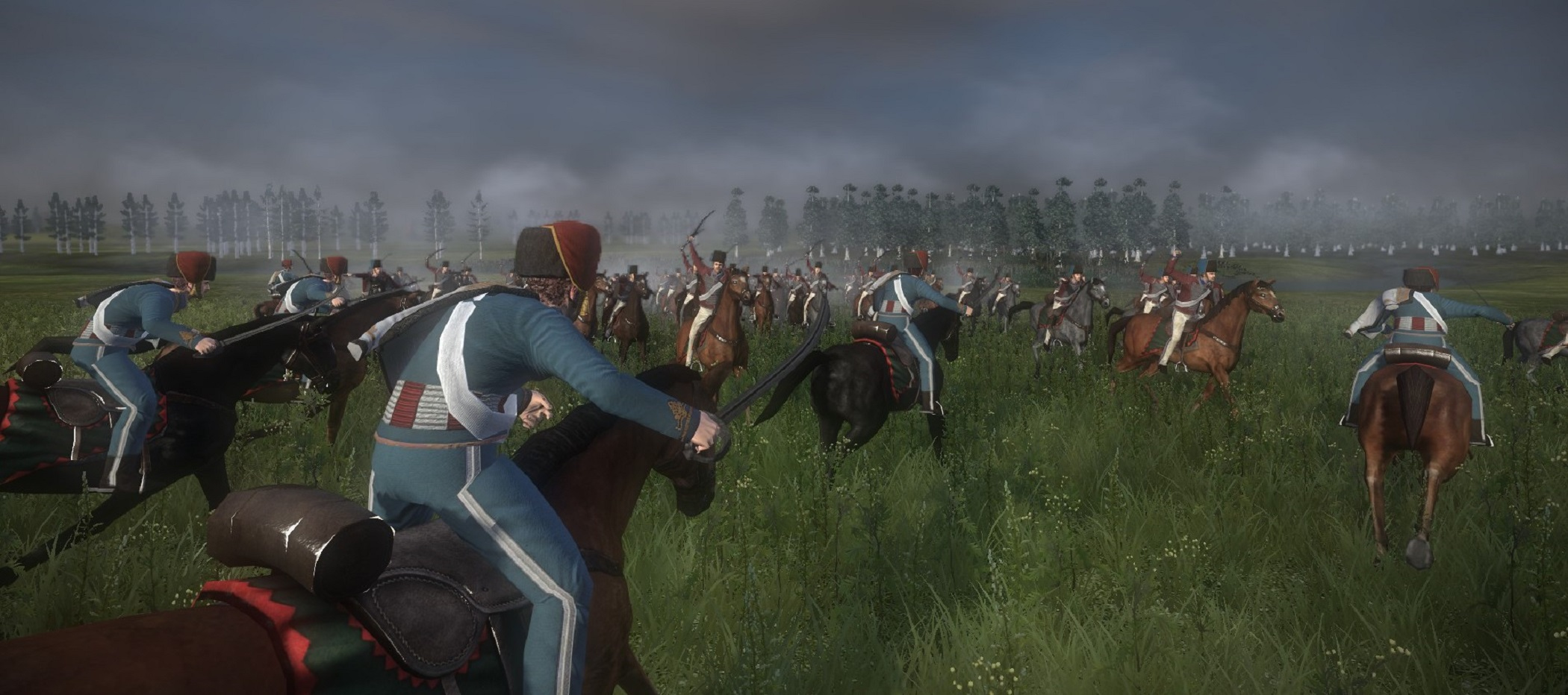 Napoleonic: Total War III ~ NTW3 ~ Gameplay French hussars charging at hellwigsche steikorps husars