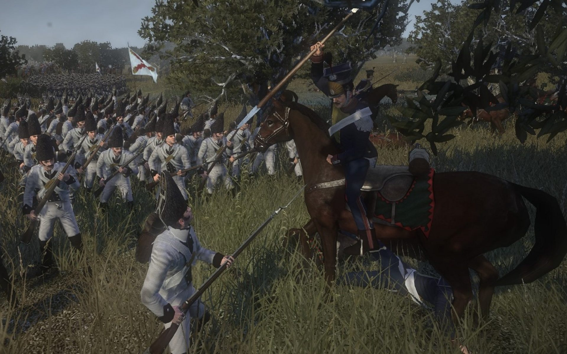 Napoleonic: Total War III ~ NTW3 ~ Gameplay French Lancer attacking Spanish Grenadier