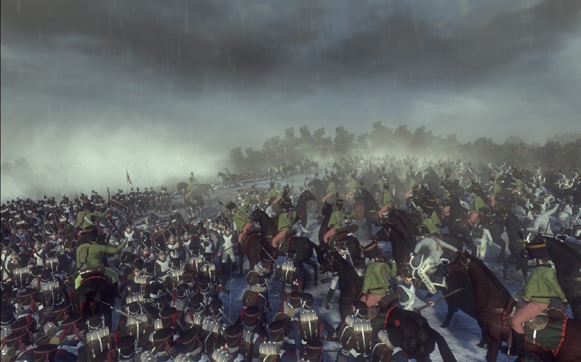 Napoleonic: Total War III ~ NTW3 ~ Gameplay Cavalry and Infantry fight for the hill during the battle.